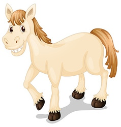 A smiling horse vector