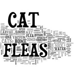 Aghhh my cat has got fleas text word cloud concept vector