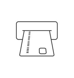 Atm card slot vector
