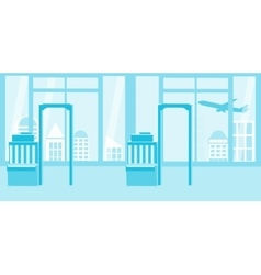 Background of airport interiors travel concept vector