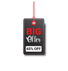 big offer tag isolated black friday sale logo vector image