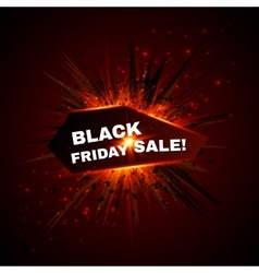 Black friday sale banner with explode on vector image