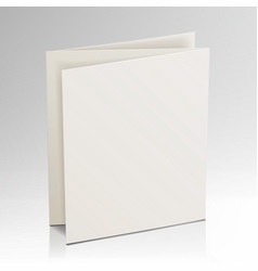 Blank folder white brochure 3d mockup vector