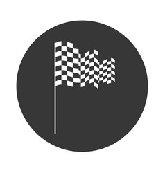 Checkered flag isolated icon vector