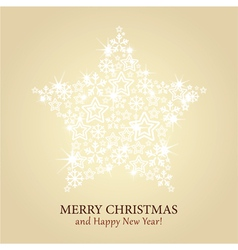 Christmas card - gold background with spark vector