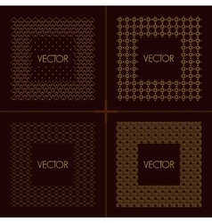 Collection of trendy mono line frames vector image