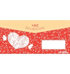Cute design for greeting card or envelope with vector image vector image