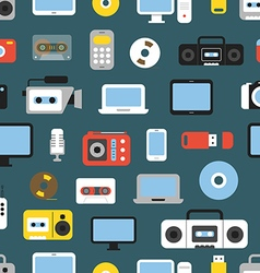 Different media devices color seamless background vector image vector image