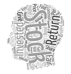 Fair value of a common stock text background vector