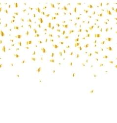 golden confetti vector image
