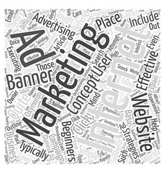 Internet marketing for beginners word cloud vector