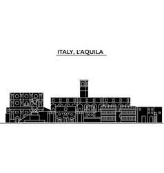Italy laquila architecture city skyline vector