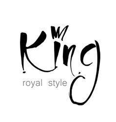 King template lettering vector