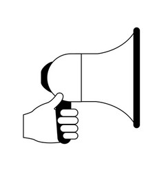 megaphone loudspeaker icon image vector image