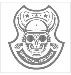 Military and biker patch isolated on white vector
