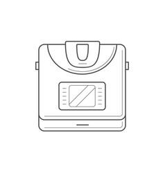 Multi cooker icon vector