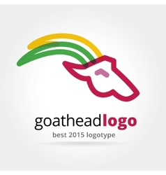 New year goat logotype isolated on white vector