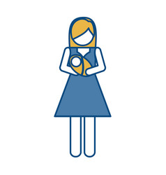 Pictogram woman ico vector