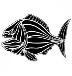 piranha tattoo vector image vector image