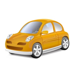 Small yellow car vector image