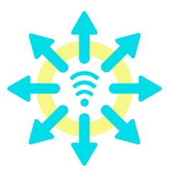 sun wi fi and download vector image vector image