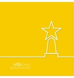 The award star winner vector image