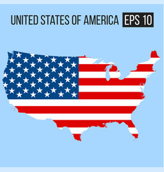 united states of america usa map border with flag vector image vector image