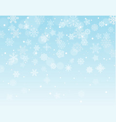 Winter background with snowflakes and blank the vector