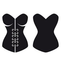 Women corset silhouette vector