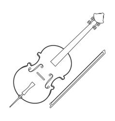 Single violin icon vector
