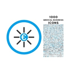 Euro distribution rounded icon with 1000 bonus vector