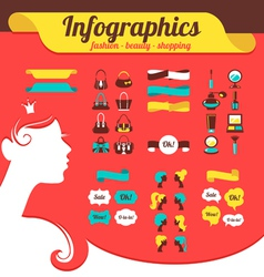 Fashion womens infographics vector