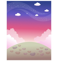 Surface colourful sky vector