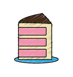 Piece of cake icon vector