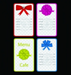 Menu for cafe or restaurant vector
