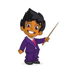 Cartoon cute arab boy vector