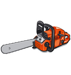 gasoline chain saw vector image