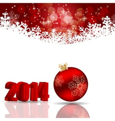 2014 beauty Christmas and New Year background vector image vector image