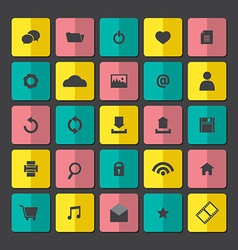 Modern website icons set vector