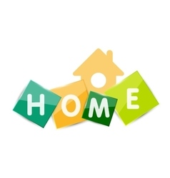 Home geometric banner design vector