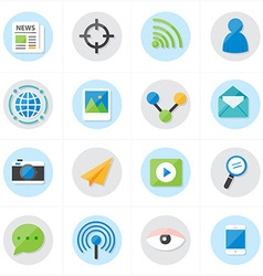 Flat icons communication and web icons vector