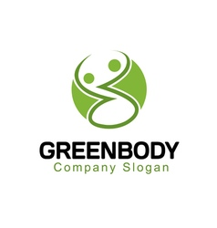 Green body design vector