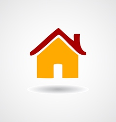 Colorful flat icon home on shadow isolated vector