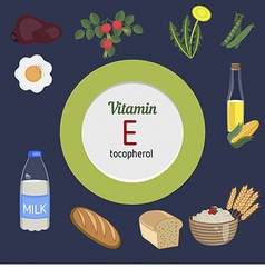 Vitamin e infographic vector