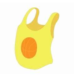 Yellow female tank top with basketball ball icon vector