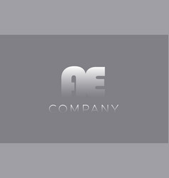 Ae a e pastel blue letter combination logo icon vector