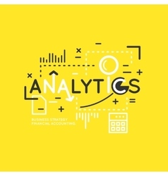 Analytics and statistics vector image vector image