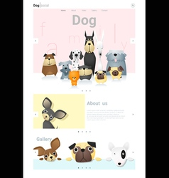 Animal website template banner and infographic vector image