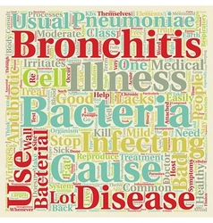 Bacterial bronchitis text background wordcloud vector