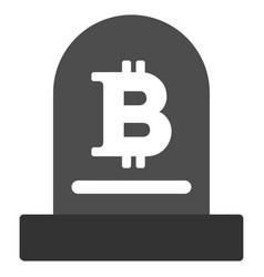 Bitcoin monument flat icon vector